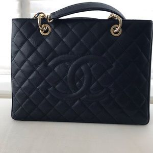 Authentic Chanel Grand Shopping tote